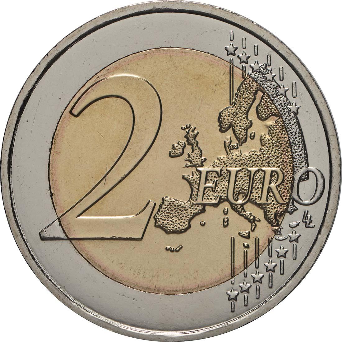 Vorderseite:Malta : 2 Euro Ta Hagrat  2019 bfr