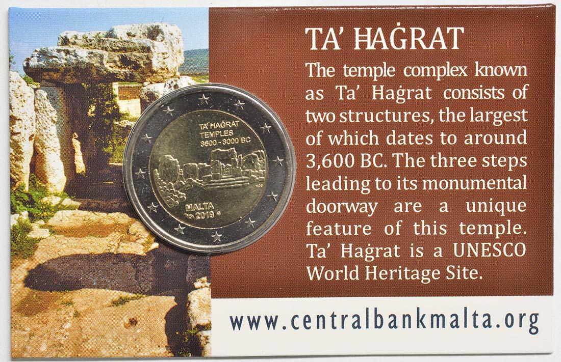 Zertifikat:Malta : 2 Euro Ta Hagrat  2019 Stgl.