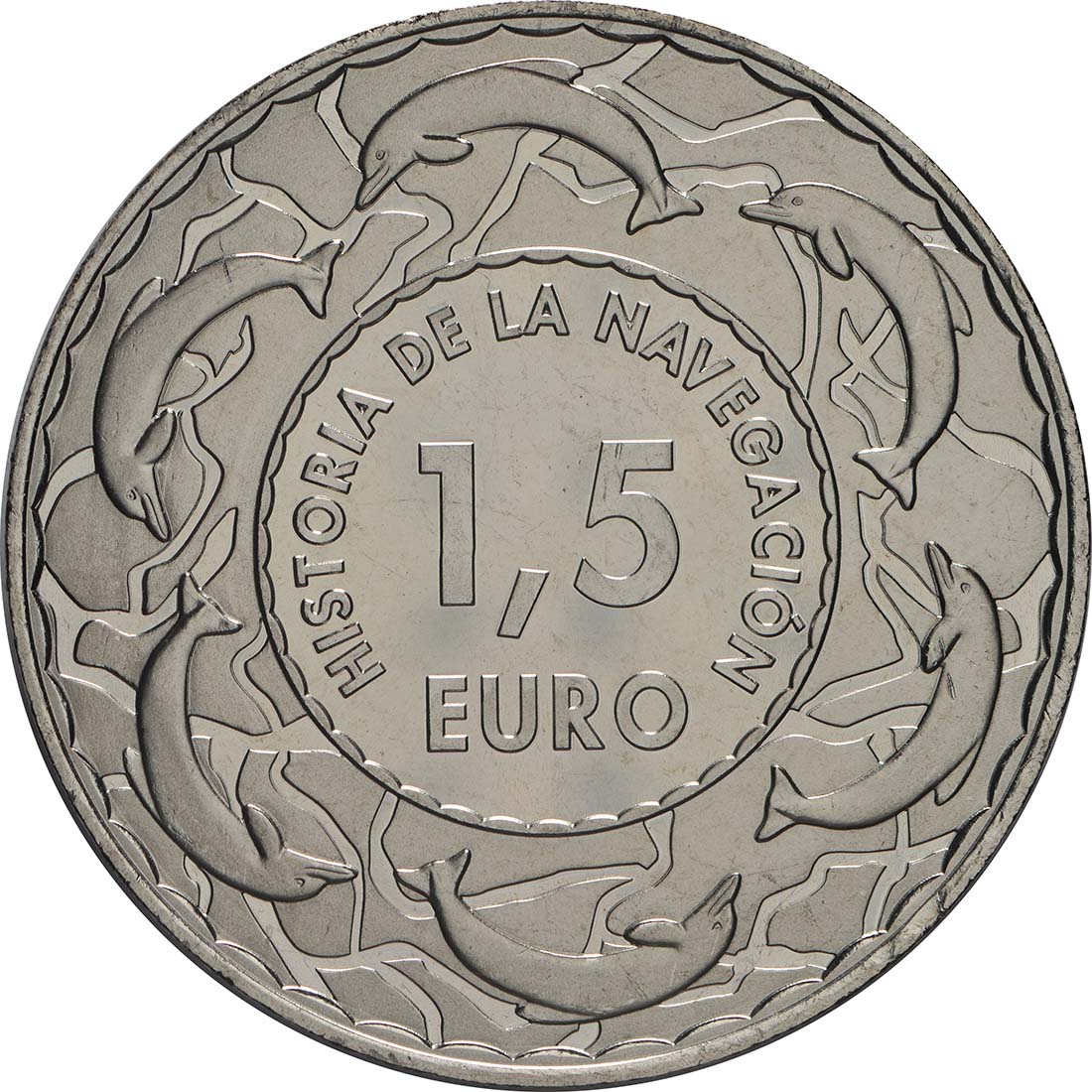 Rückseite:Spanien : 1,5 Euro Juan Sebastian Elcano #3  2018 Stgl.