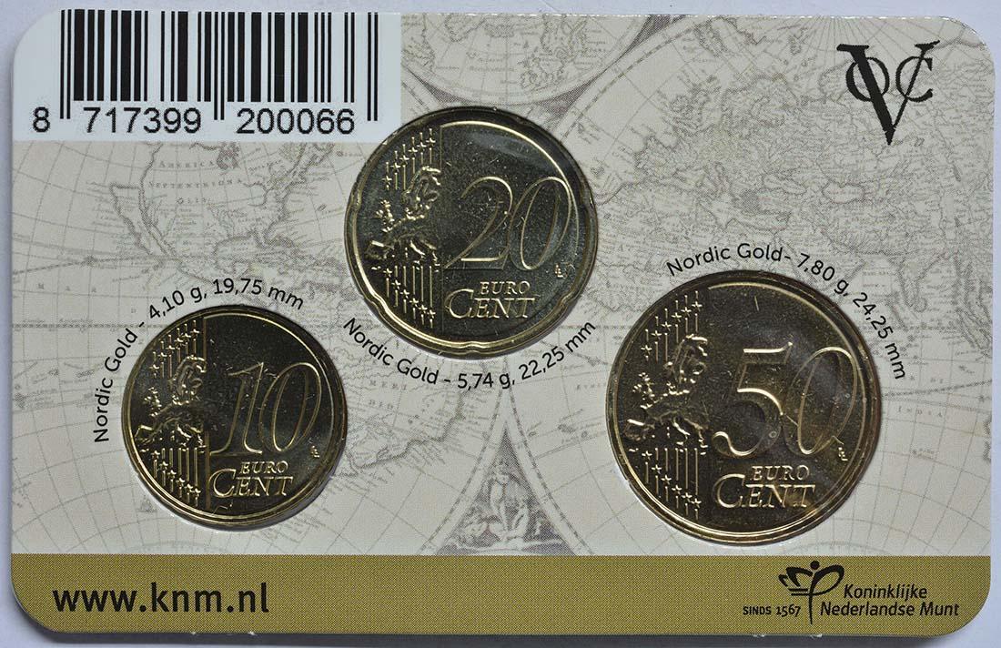 Rückseite:Niederlande : 80 Cent 10+20+50 Cent  2019 bfr