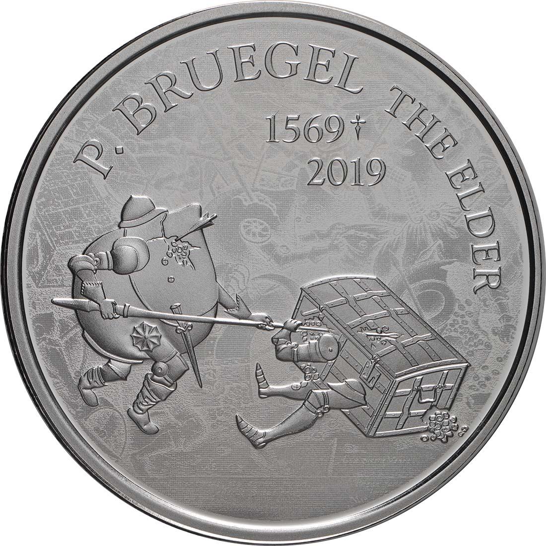Vorderseite:Belgien : 10 Euro Renaissance Brügel  2019 PP