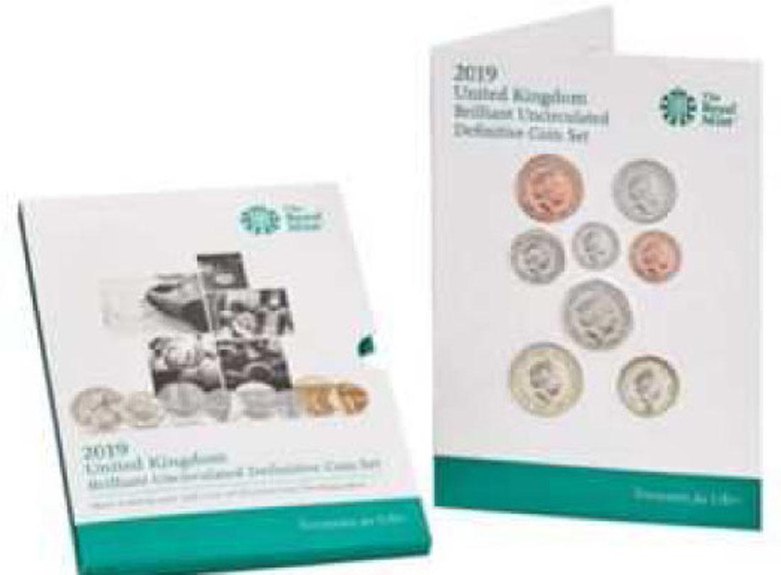 """Lieferumfang:Großbritannien : 3,88 Pfund Kursmünzensatz """"Definitive Set  2019 Stgl."""