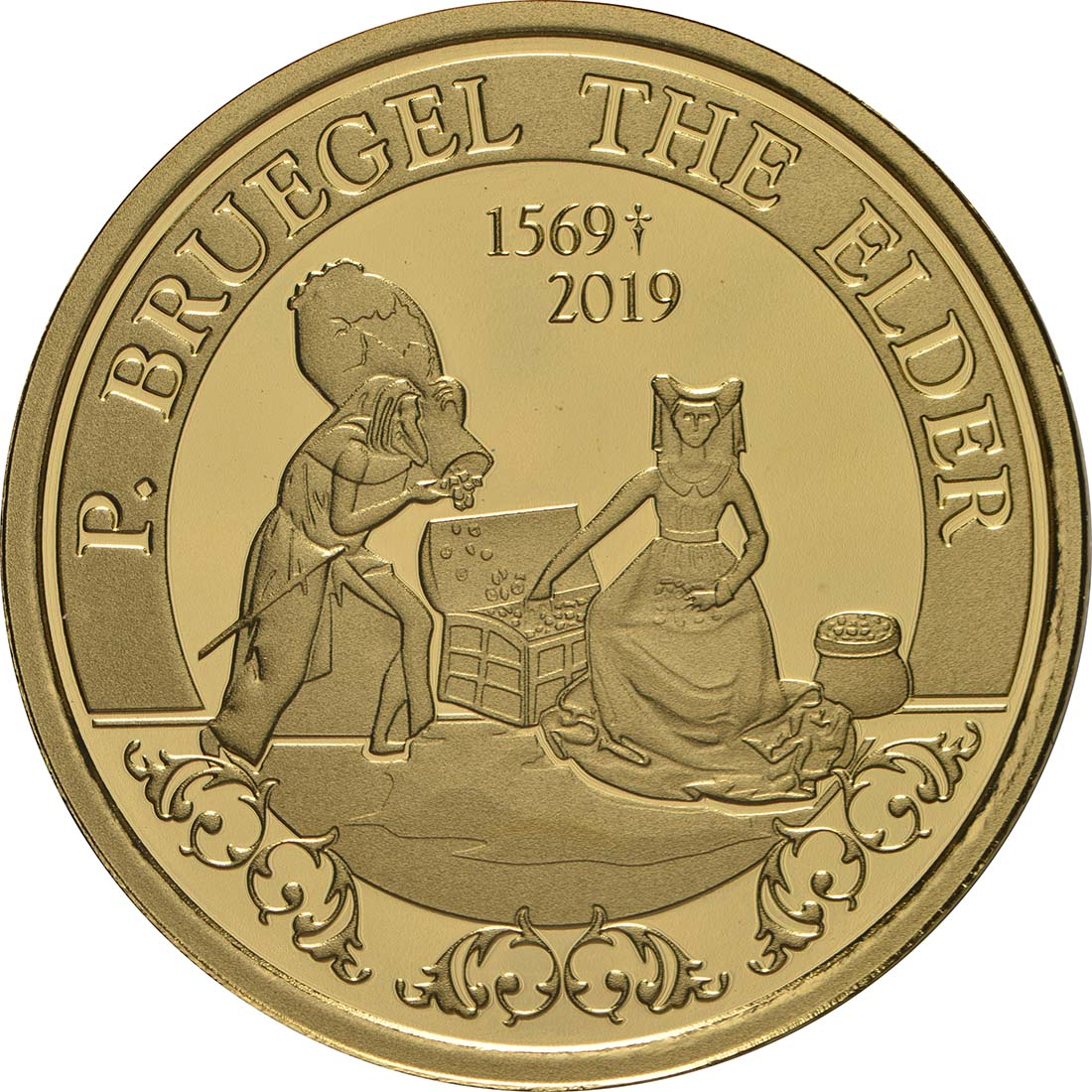 Vorderseite:Belgien : 50 Euro Renaissance Brügel  2019 PP