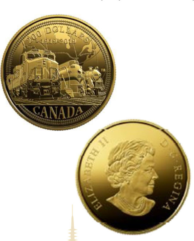 Lieferumfang:Kanada : 200 Dollar 100 Jahre Canadian National Railway  2019 PP
