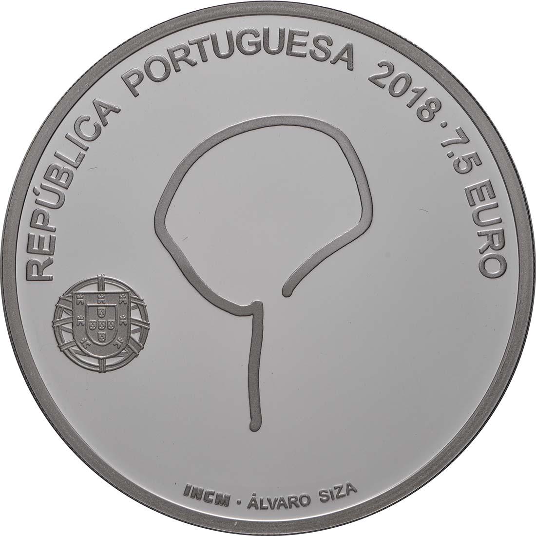Rückseite:Portugal : 7,5 Euro Souto Moura  2018 PP