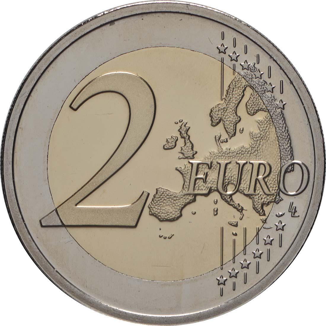Vorderseite:Belgien : 2 Euro 25-jähriges Bestehen des Europäischen Währungsinstituts (EWI)  2019 PP