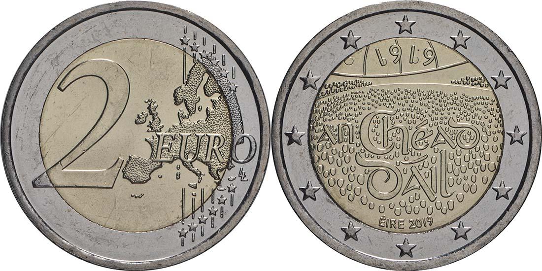 Lieferumfang:Irland : 2 Euro 100 Jahre Dail Éireann (irisches Parlament)  2019 bfr