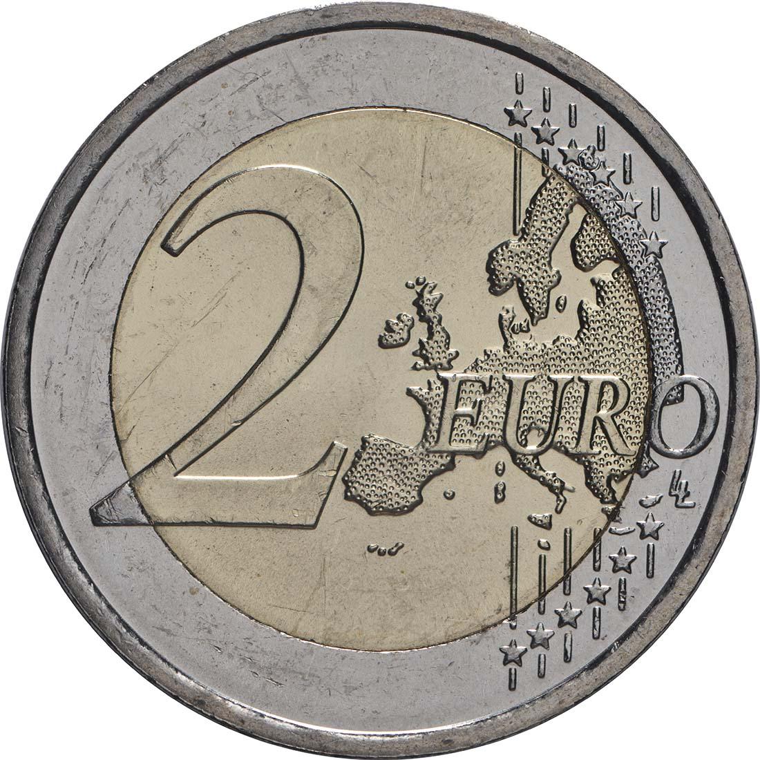 Vorderseite:Irland : 2 Euro 100 Jahre Dail Éireann (irisches Parlament)  2019 bfr