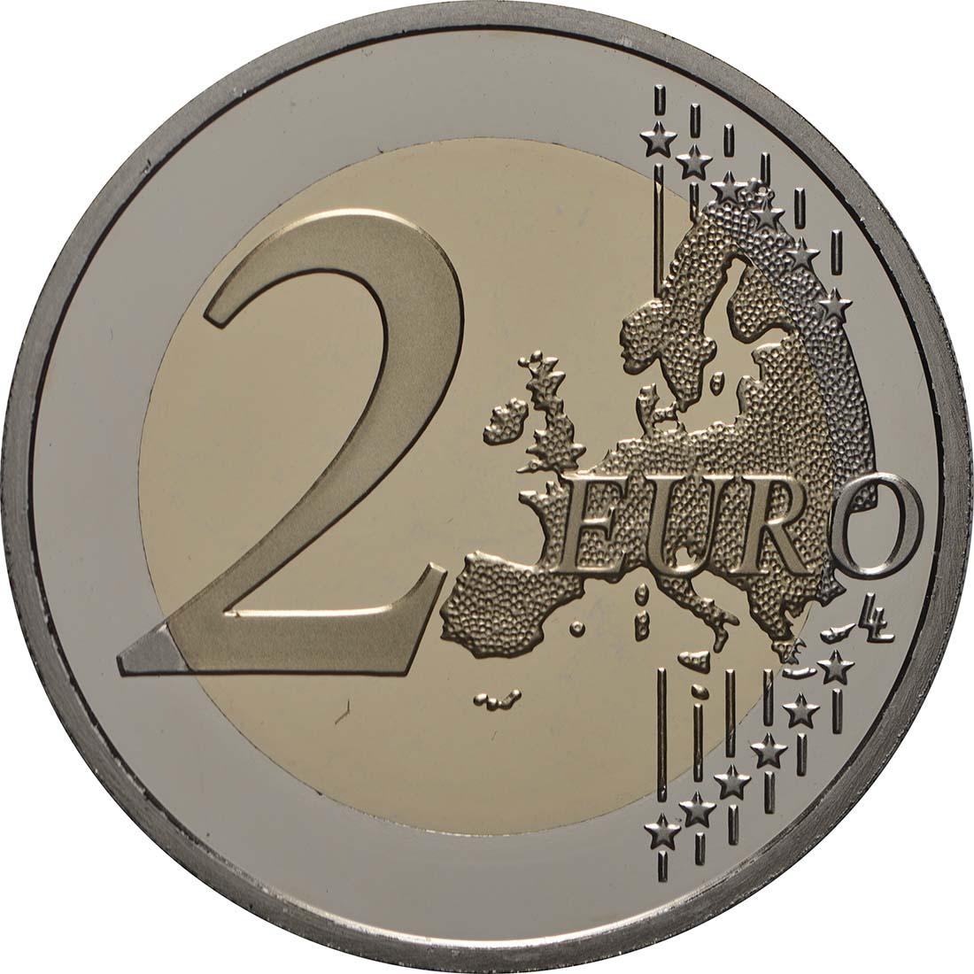 Vorderseite:Monaco : 2 Euro 200. Jahrestag der Thronbesteigung von Fürst Honoré V.  2019 PP