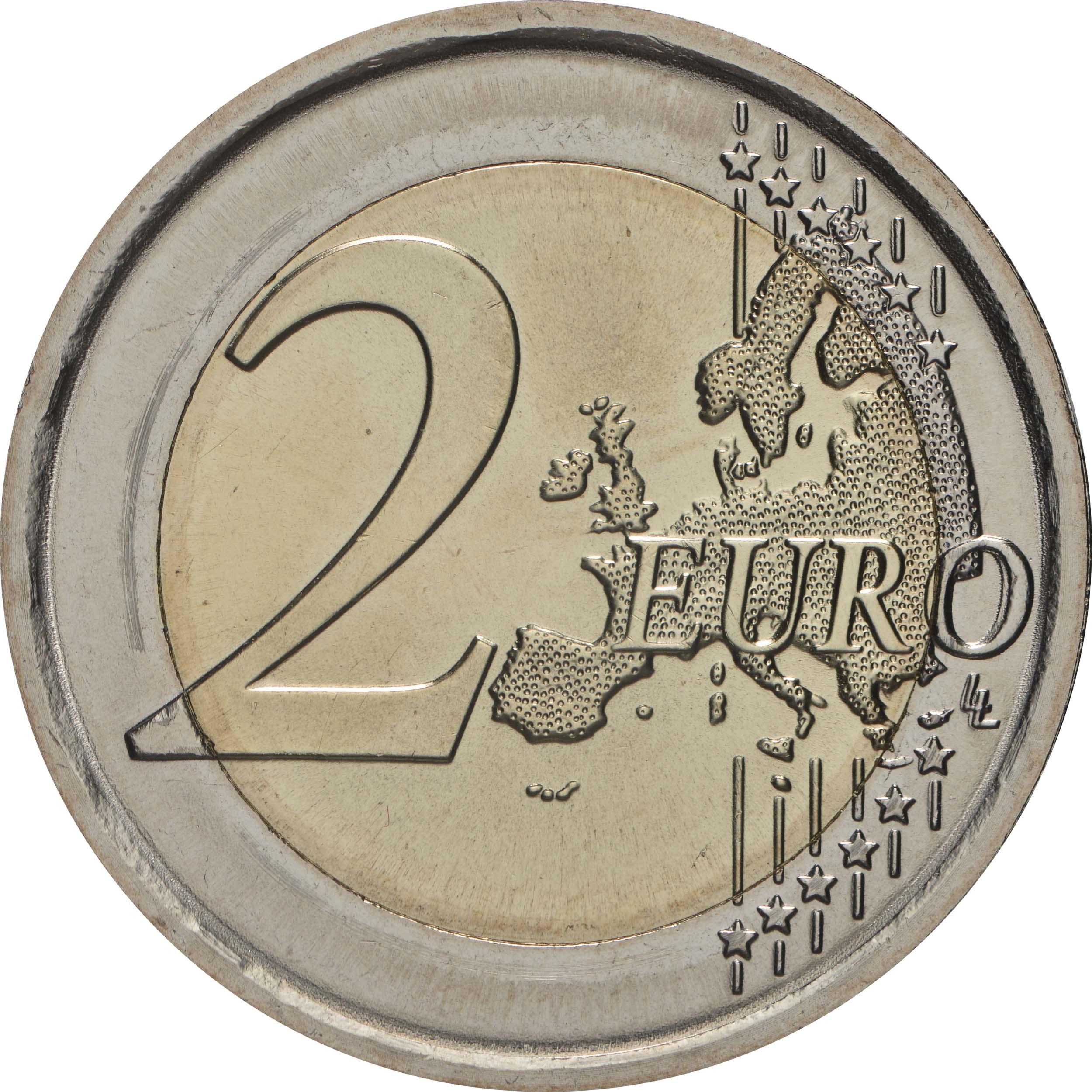Vorderseite:Slowenien : 2 Euro 100. Jahrestag der Gründung der Universität Ljubljana  2019 bfr
