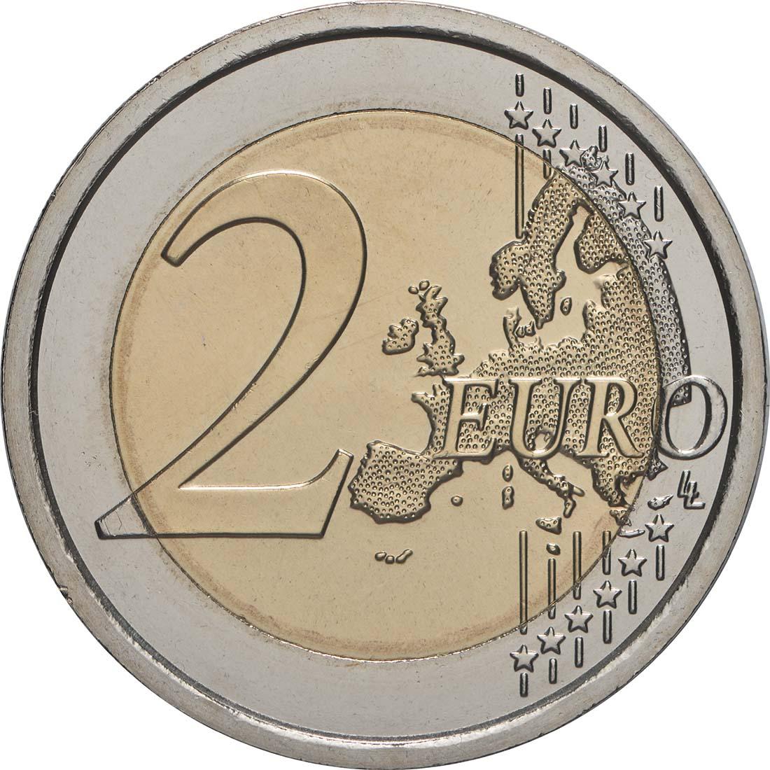 Vorderseite:Vatikan : 2 Euro 90. Jahrestag der Gründung des Staates Vatikanstadt  2019 bfr