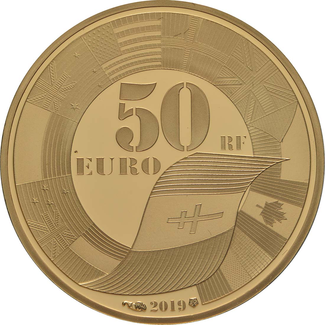 Rückseite:Frankreich : 50 Euro Land, See, und Luftoperationen  2019 PP