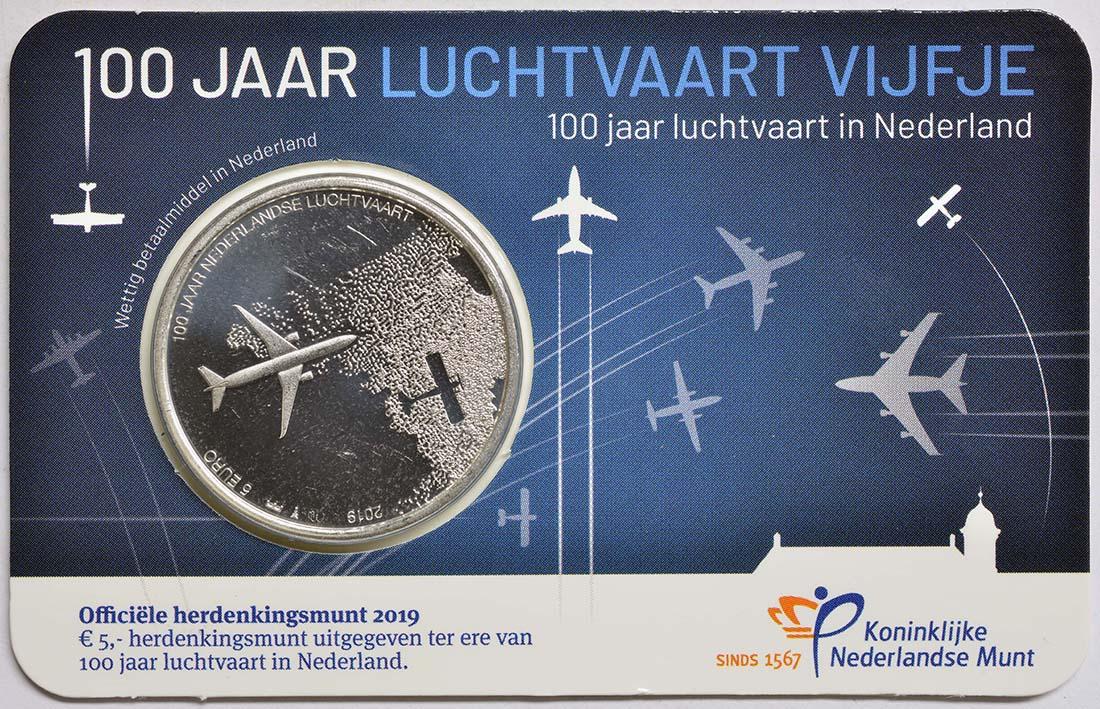 Lieferumfang:Niederlande : 5 Euro 100 Jahre Luftfahrt  2019 bfr