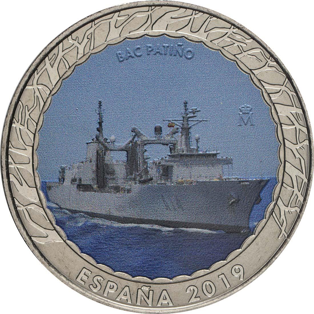 Vorderseite:Spanien : 1,5 Euro Flottentanker Patino  2019 bfr