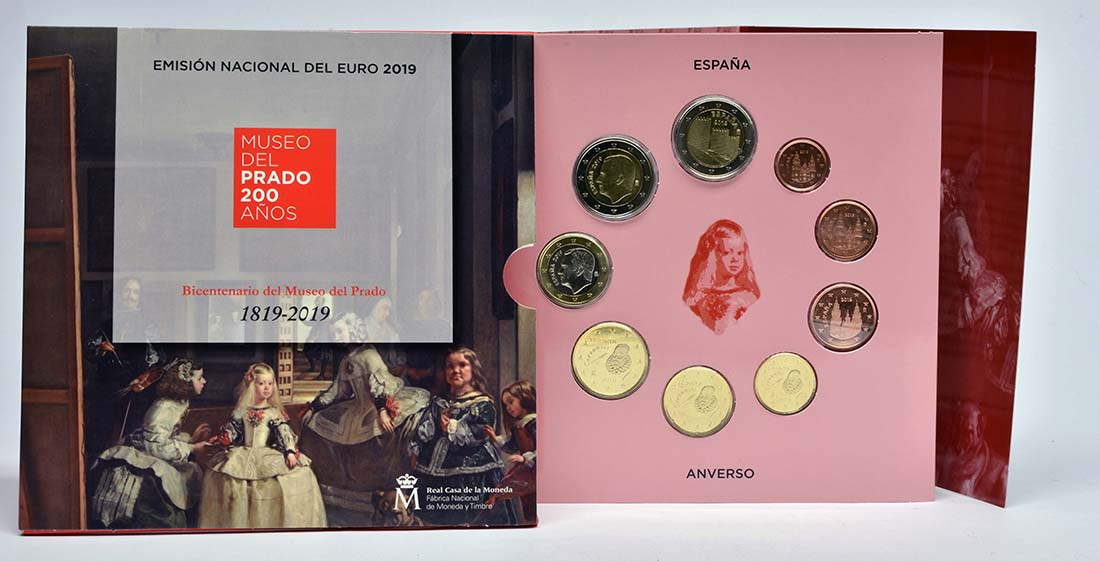 Lieferumfang:Spanien : 5,88 Euro KMS Spanien Prado Museum incl. 2 Euro Avila  2019 Stgl.