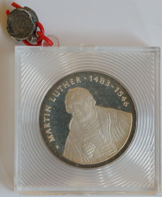 Vorderseite:DDR : 20 Mark Luther  1983 PP