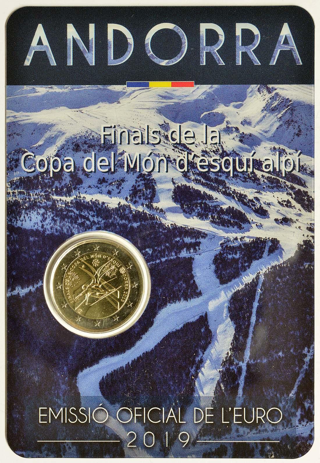Lieferumfang:Andorra : 2 Euro Alpin Ski Weltcup Finale  2019 bfr