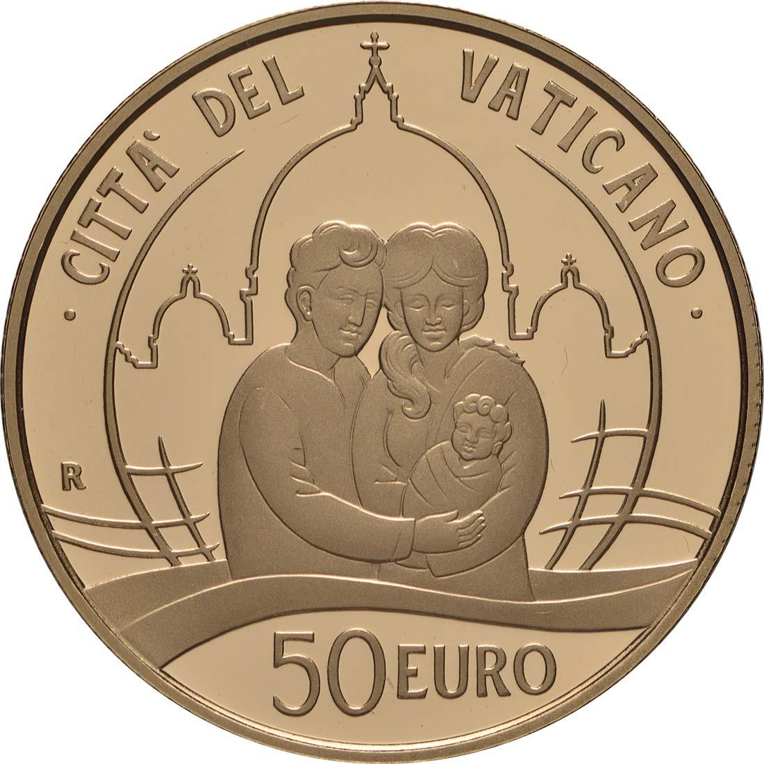 Rückseite:Vatikan : 53,88 Euro KMS Vatikan mit 50 Euro Gedenkmünze  2019 PP