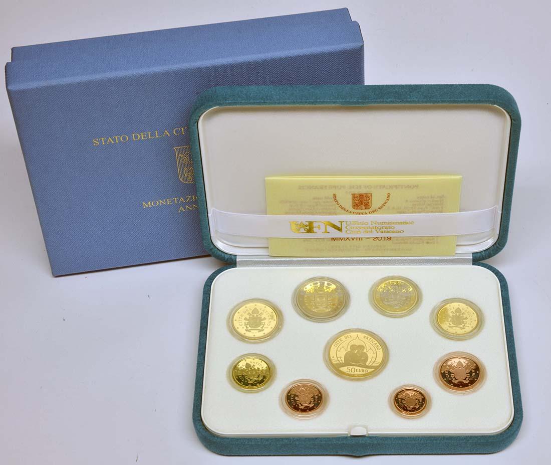Lieferumfang:Vatikan : 53,88 Euro KMS Vatikan mit 50 Euro Gedenkmünze  2019 PP