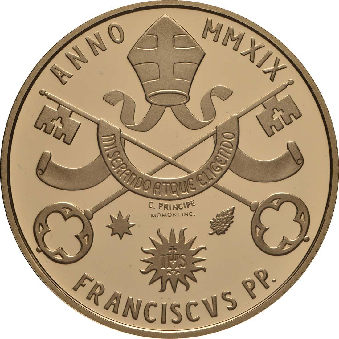Vorderseite:Vatikan : 53,88 Euro KMS Vatikan mit 50 Euro Gedenkmünze  2019 PP