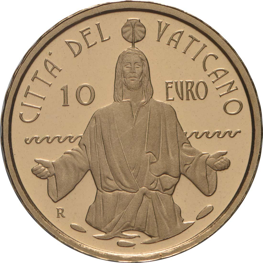 Vorderseite:Vatikan : 10 Euro Die Taufe - MMXIX  2019 PP