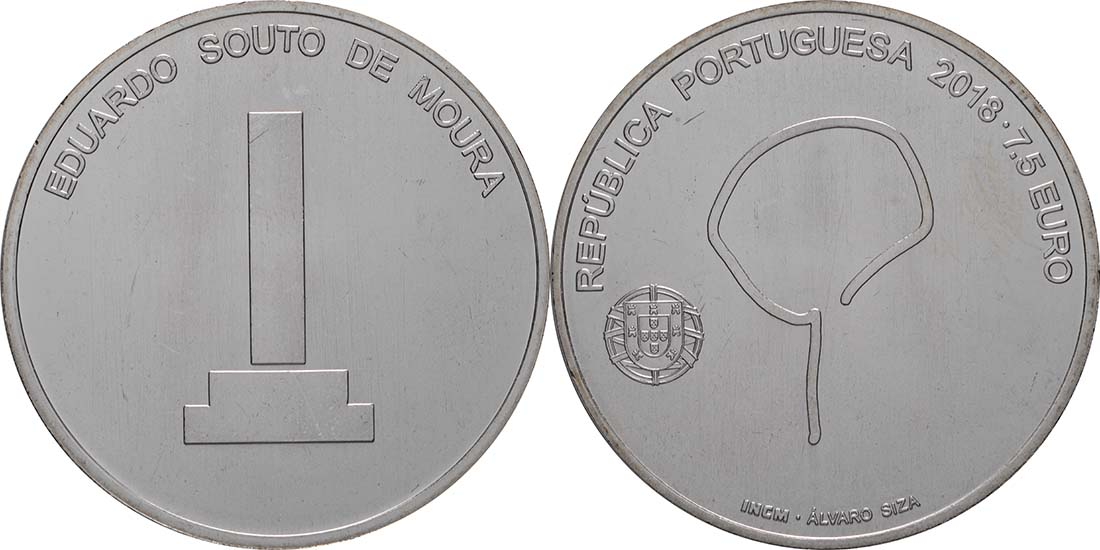 Lieferumfang:Portugal : 7,5 Euro Souto Moura  2018 bfr
