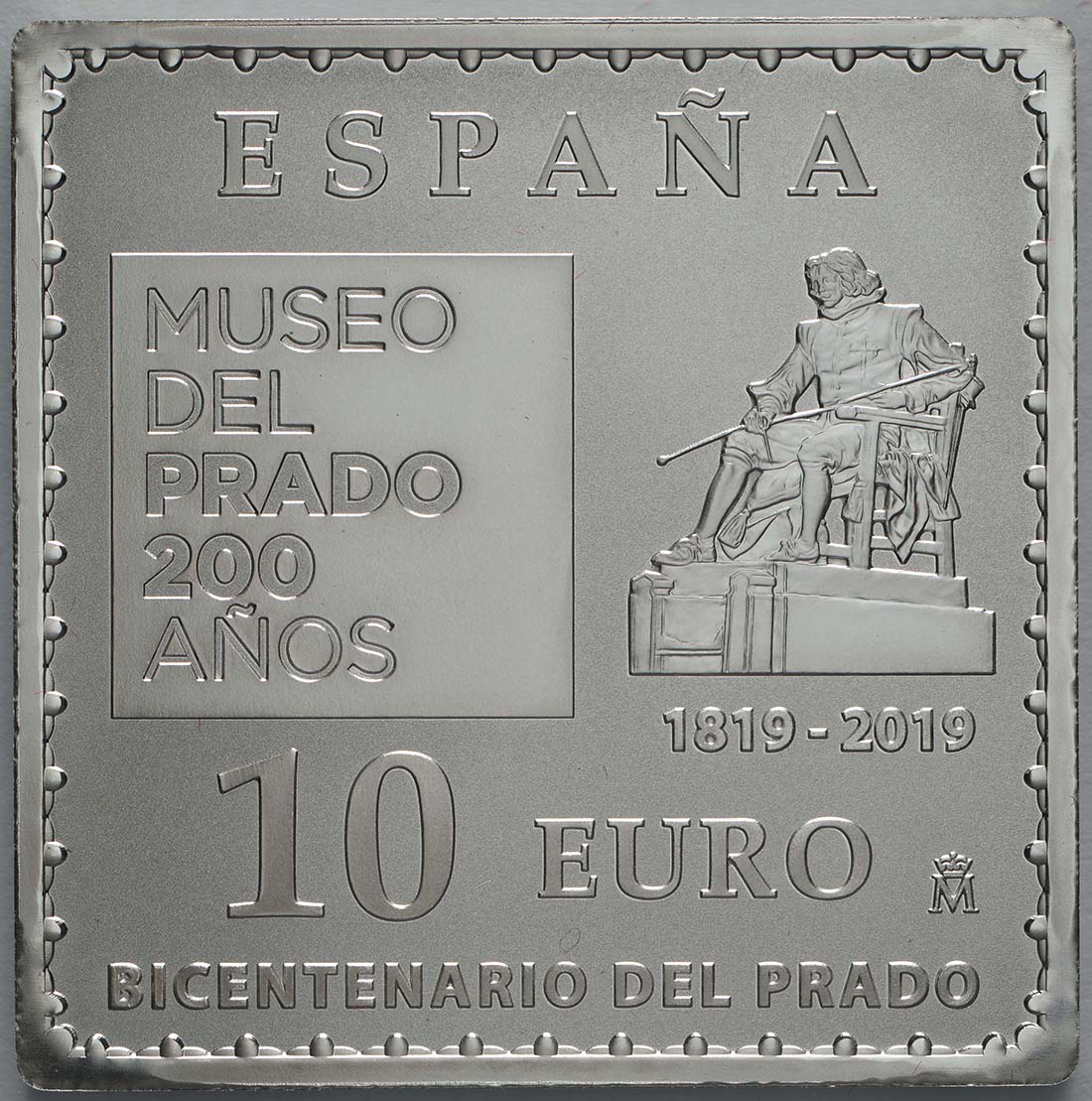 Rückseite:Spanien : 10 Euro Goya - farbig  2019 PP
