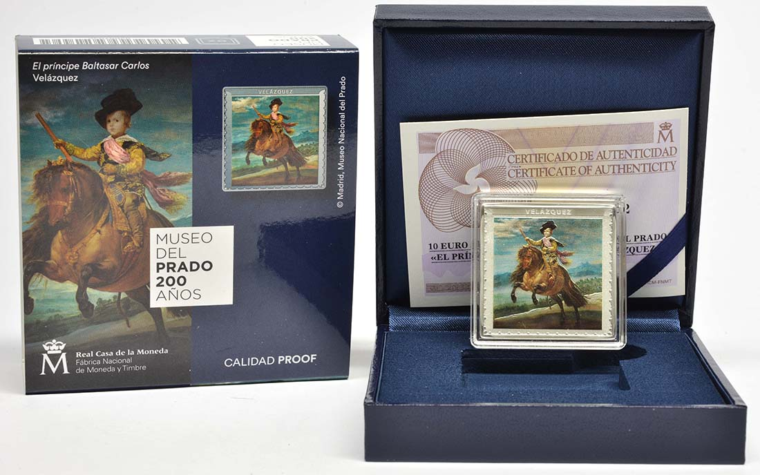 Lieferumfang:Spanien : 10 Euro Velazquez - farbig  2019 PP