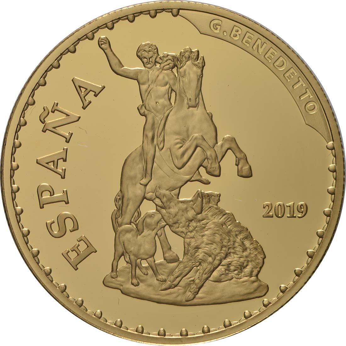 Vorderseite:Spanien : 100 Euro Meleandros Jagd  2019 PP