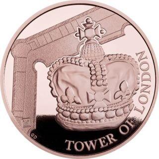 Lieferumfang:Großbritannien : 5 Pfund Tower v. London - Die Kronjuwelen  1 oz  2019 PP
