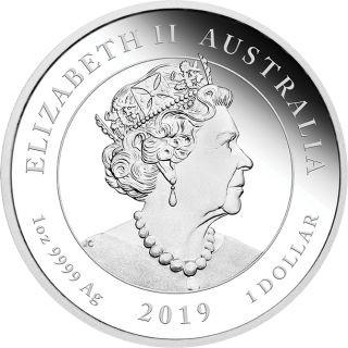 Rückseite:Australien : 1 Dollar 50 Jahre Mondlandung   1 oz  2019 PP