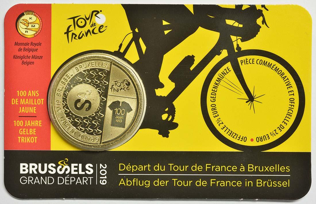Lieferumfang:Belgien : 2,5 Euro Tour de France  2019 Stgl.