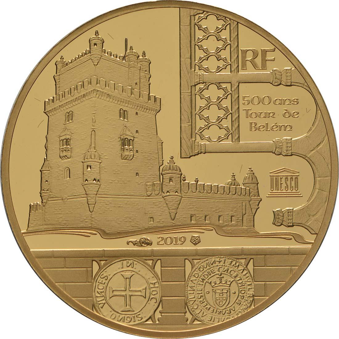 Vorderseite:Frankreich : 50 Euro Der Turm von Belem / Vasco da Gama  2019 PP