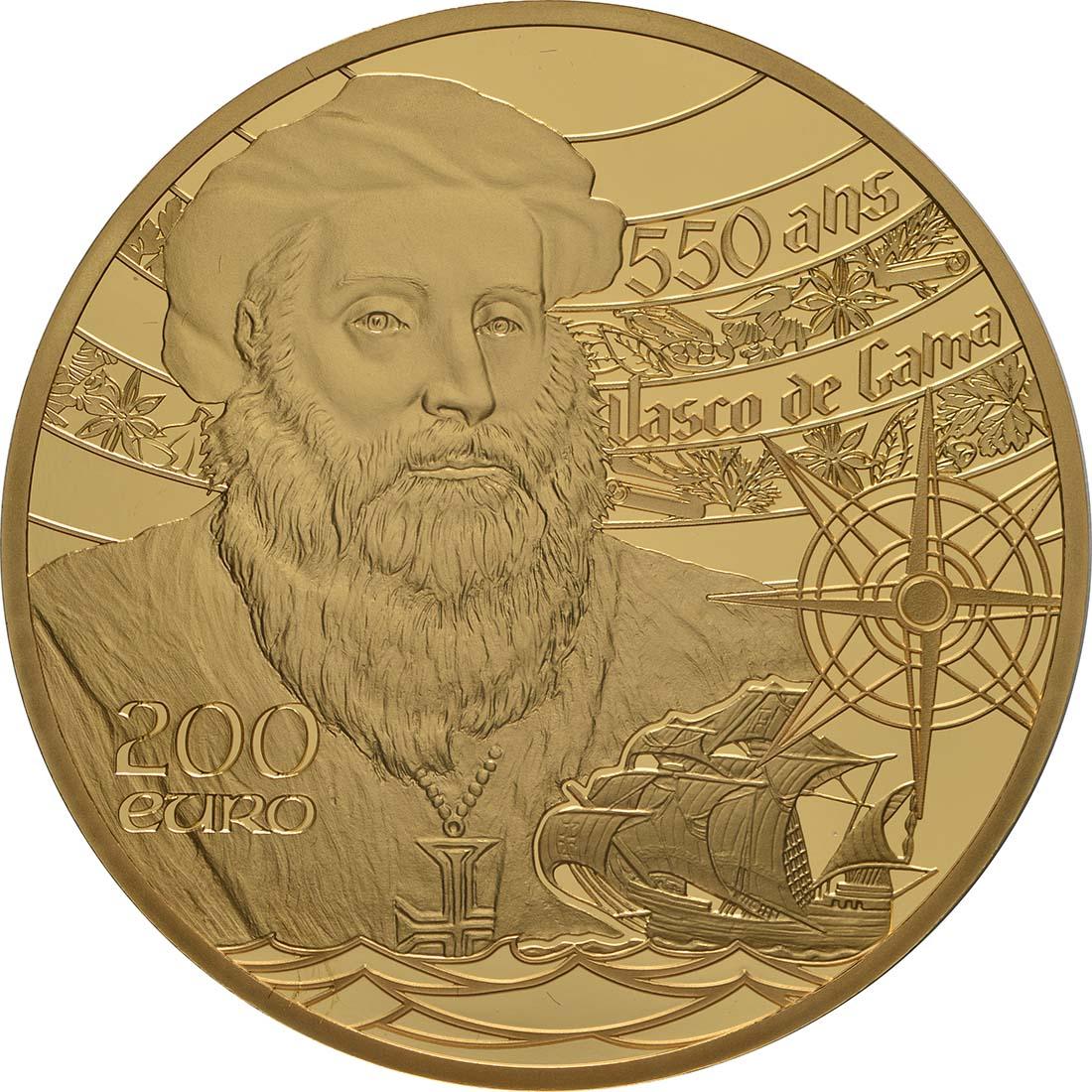 Vorderseite:Frankreich : 200 Euro Der Turm von Belem / Vasco da Gama  2019 PP