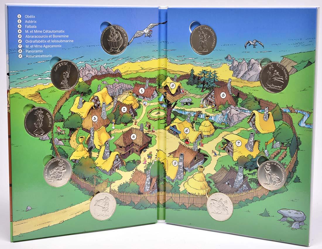 Lieferumfang:Frankreich :   Asterix Medaillen-Set - 9 offizielle Mini-Medaillen  2019 Stgl.