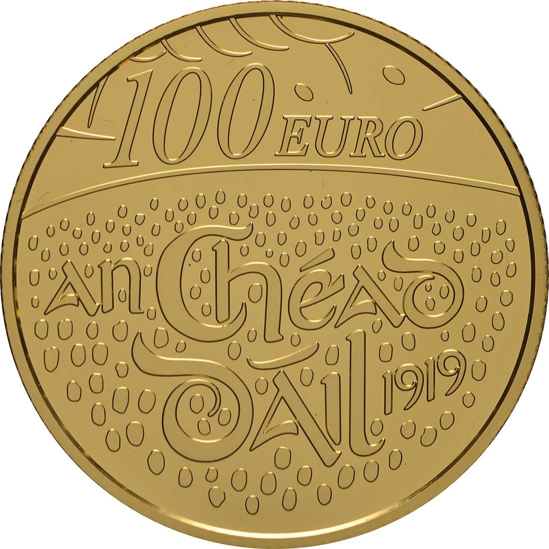 Vorderseite:Irland : 100 Euro 100. Jahrestag Dail Eireann  2019 PP