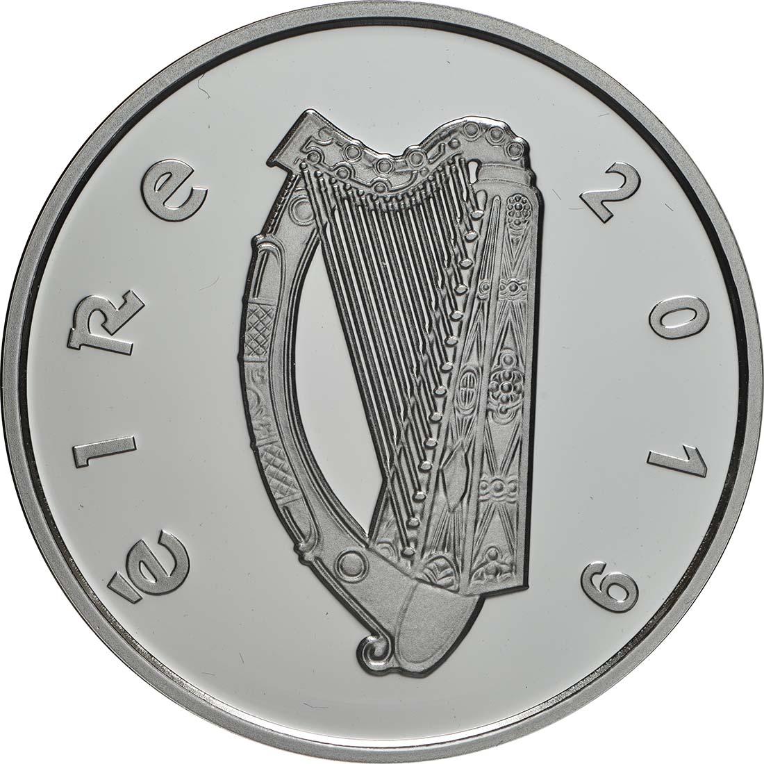Rückseite:Irland : 15 Euro 100 Jahre Transatlantikflug  2019 PP
