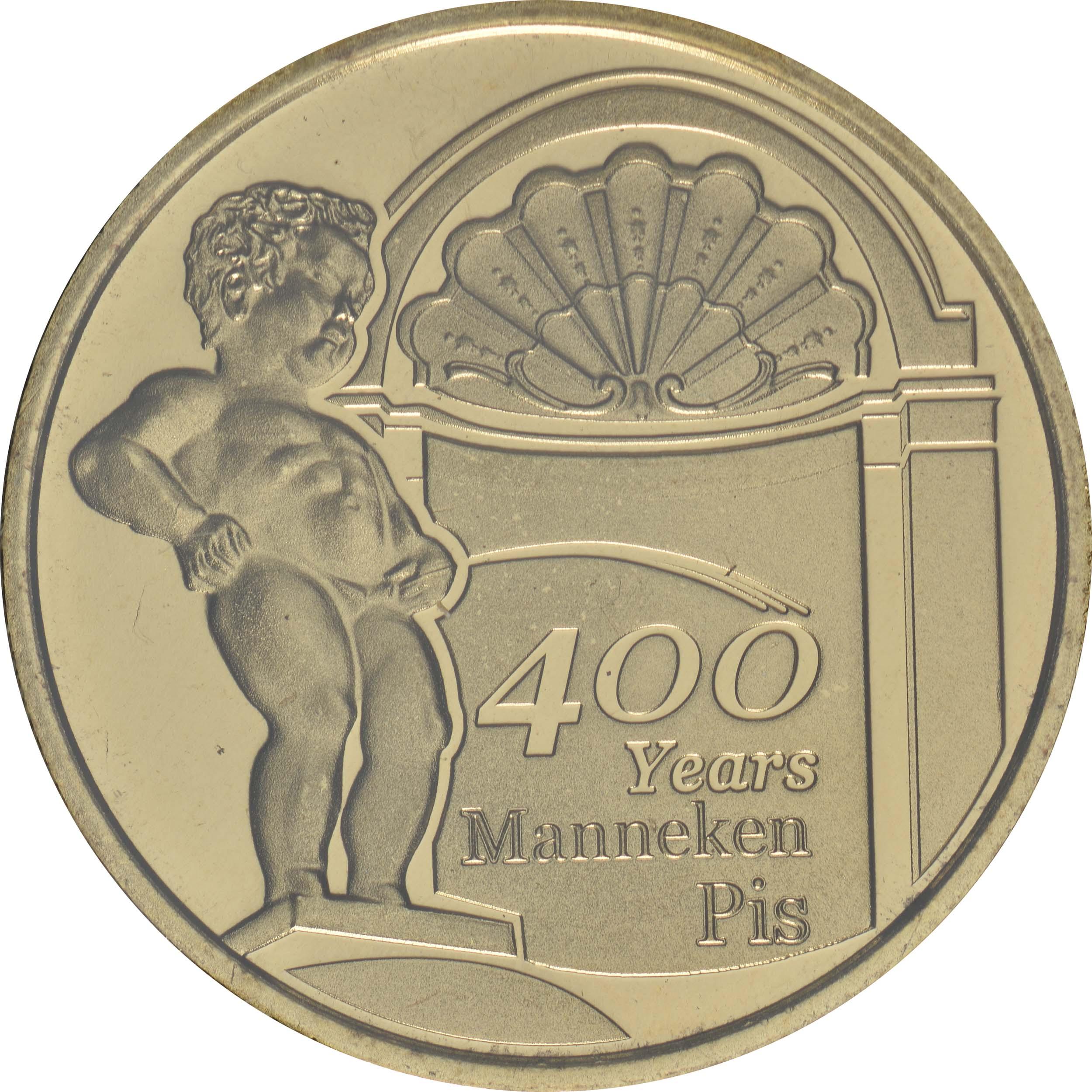Vorderseite:Belgien : 2,5 Euro 400 Jahre Manneken Pis  2019 Stgl.