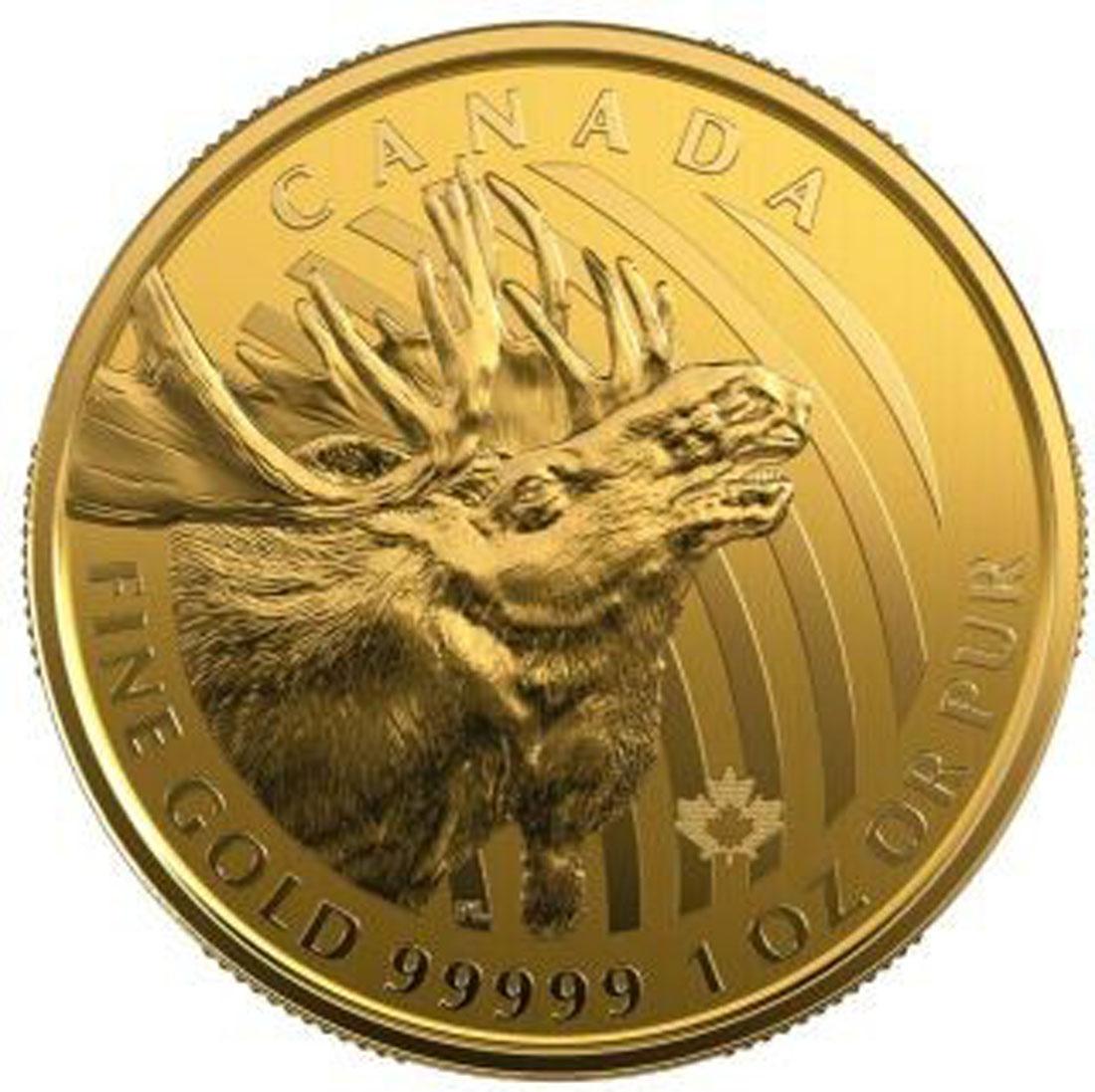 Vorderseite:Kanada : 200 Dollar Kanadischer Elch - in Coincard   999,99  2019 Stgl.