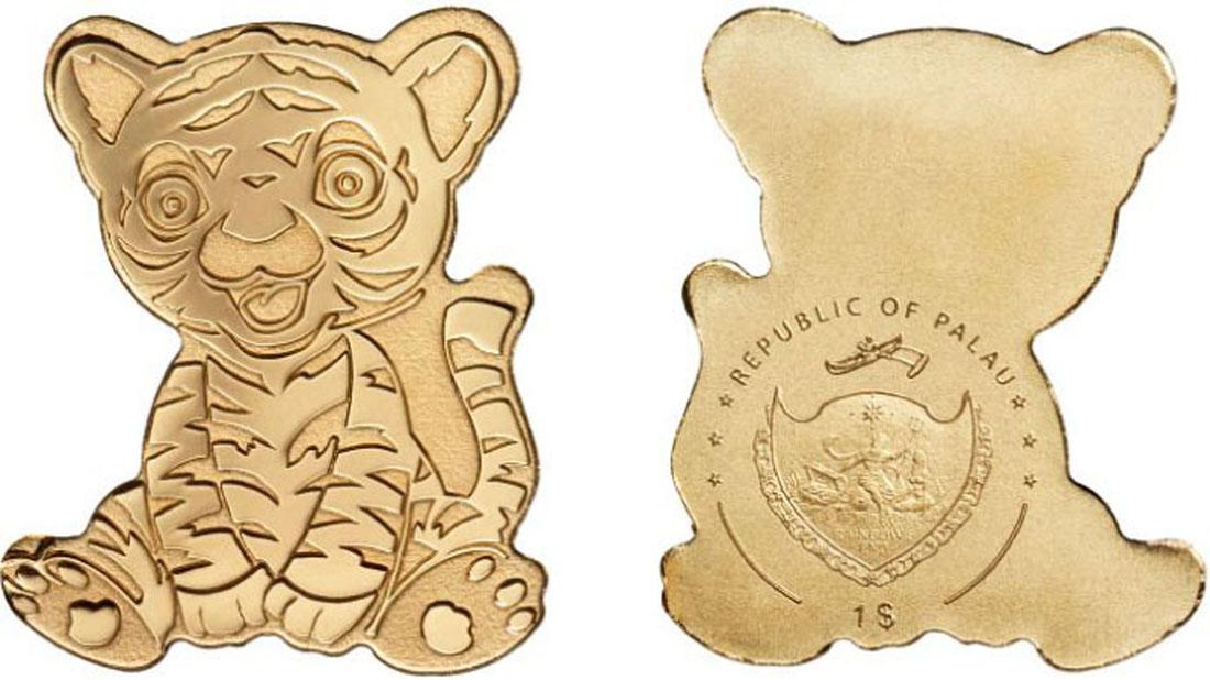 Lieferumfang:Palau Islands : 1 Dollar Tiny Tiger ohne Jahreszahl  2019 Stgl.