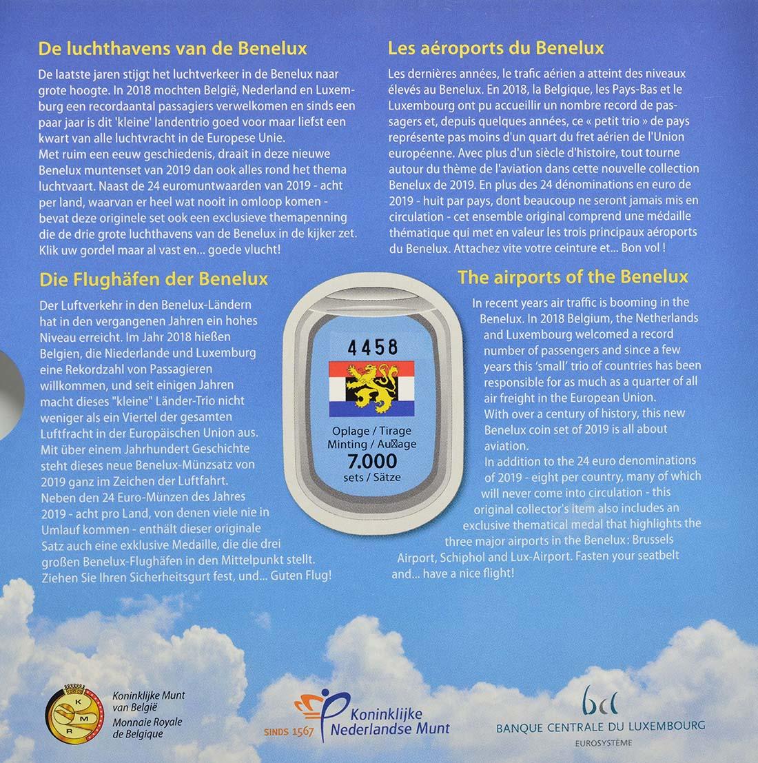 Zertifikat:Belgien : 11,64 Euro KMS Benelux  2019 Stgl.