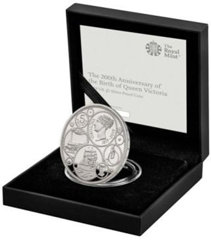 Lieferumfang:Großbritannien : 5 Pfund 200. Geburtstag Queen Victoria  2019 PP