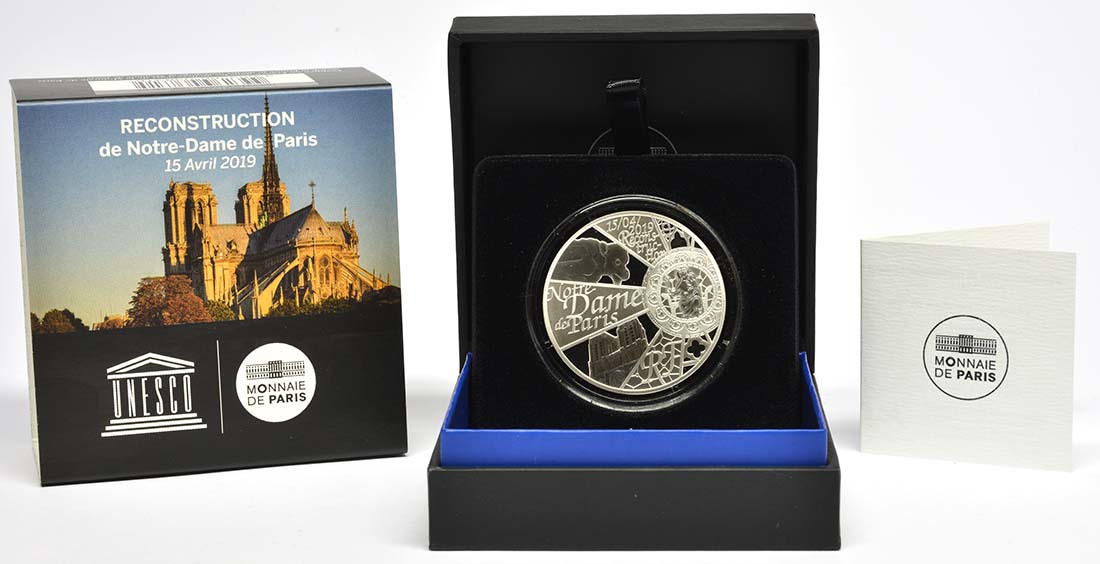 Lieferumfang:Frankreich : 10 Euro Notre Dame  2019 PP