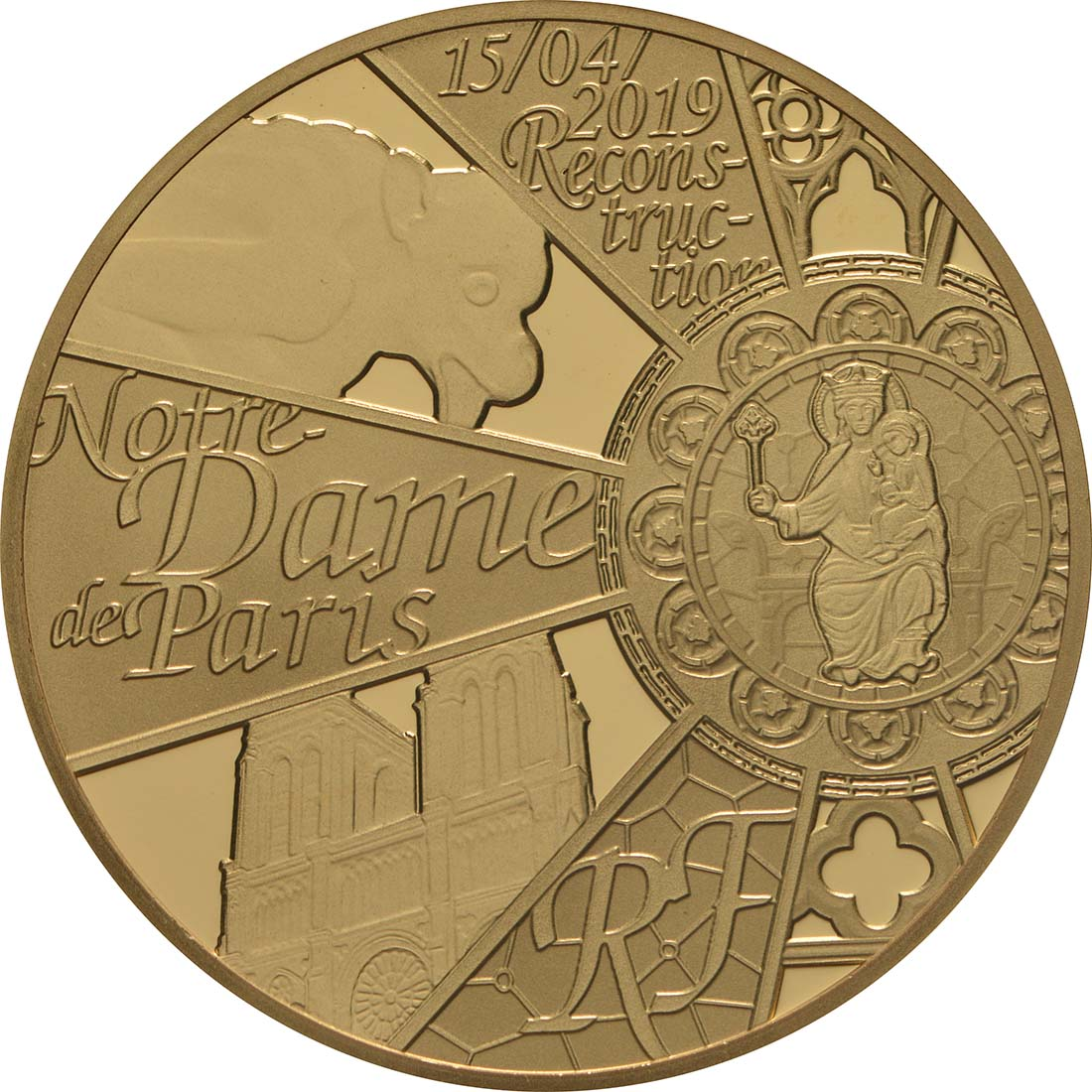 Vorderseite:Frankreich : 50 Euro Notre Dame  2019 PP
