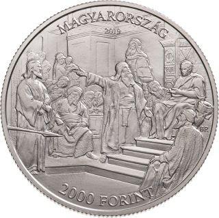 Vorderseite:Ungarn : 2000 Forint 175. Geburtstag Mihaly Munkacsy (Maler)  2019 Stgl.
