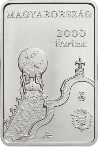 Vorderseite:Ungarn : 2000 Forint 150 J. Geologisches Institut - rechteckig  2019 Stgl.