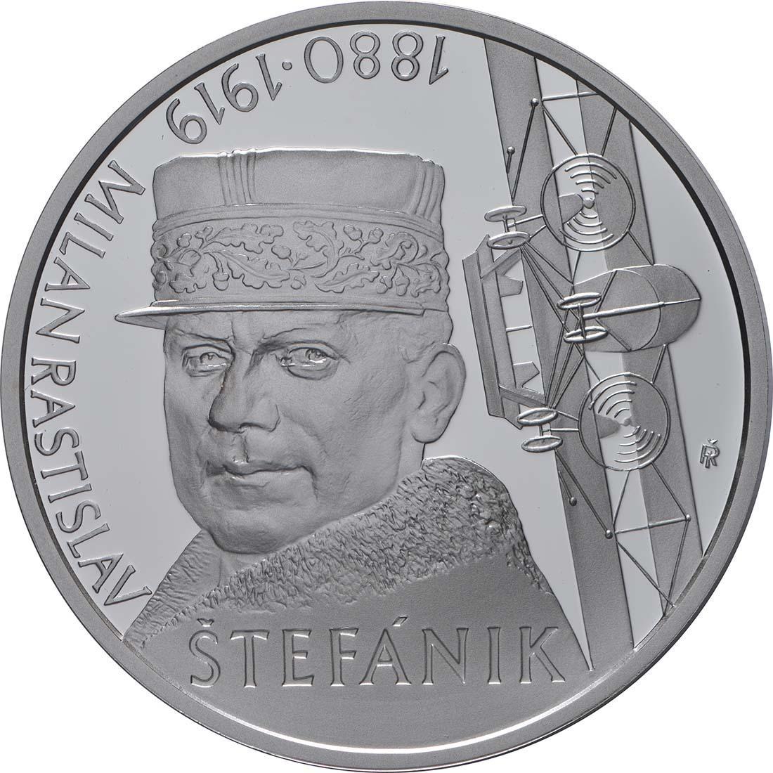 Vorderseite:Slowakei : 10 Euro 100. Todestag M. R. Stefanik (Pilot)  2019 PP