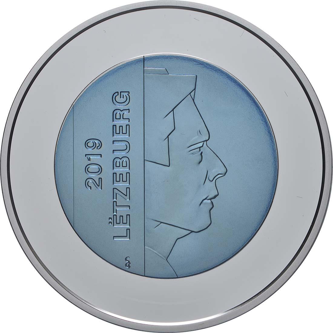 Rückseite:Luxemburg : 5 Euro Schloss Bourglinster  2019 PP