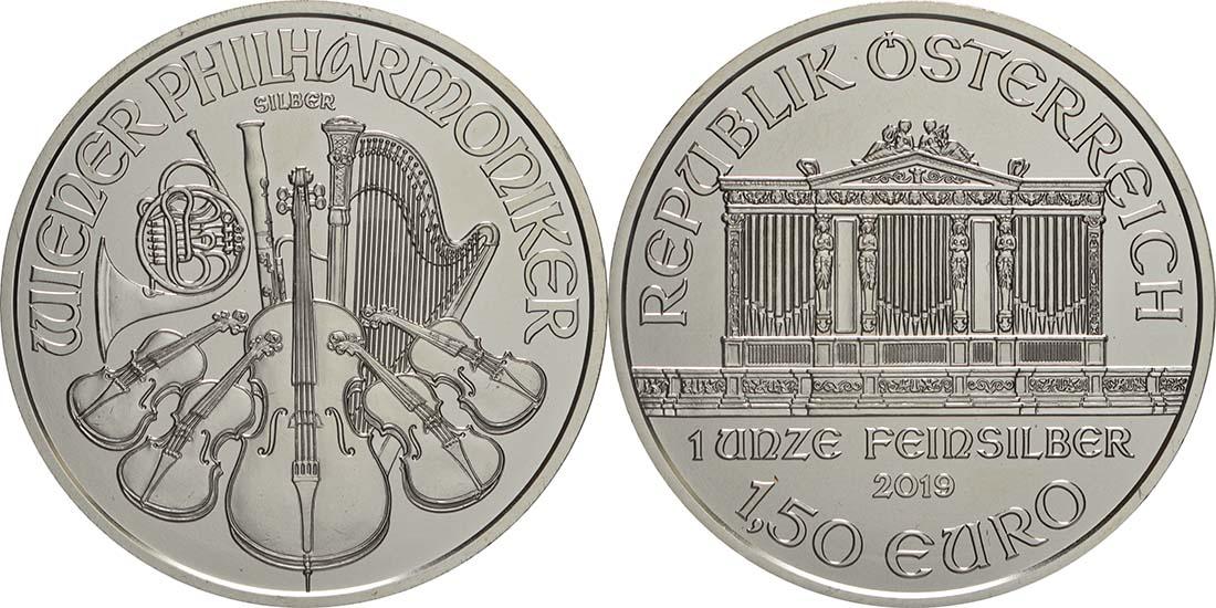 Lieferumfang:Österreich : 1,5 Euro Philharmoniker  2019 Stgl.
