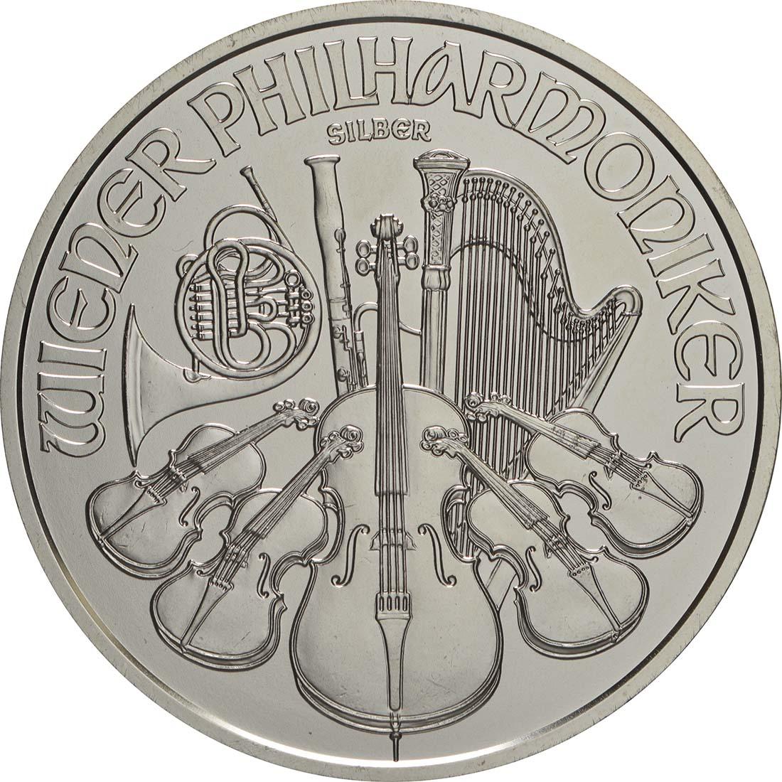 Vorderseite:Österreich : 1,5 Euro Philharmoniker  2019 Stgl.